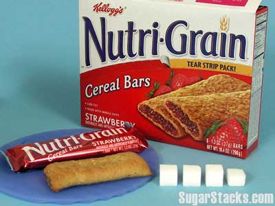 Strawberry Nutrigrain Bar - 13g sugar