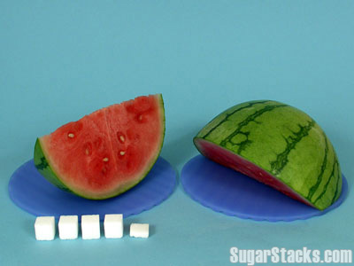 Watermelon slice - 18g sugar